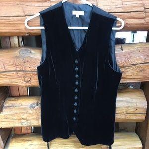 Beautiful Brooks Brothers Black Velvet Vest